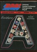 December 27 1970 Afc Playoff Program Miami Dolphins At Oakland Raiders Vgex