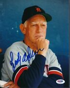 Sparky Anderson Tigers Signed 8x10 Photo Autograph Auto Psa/dna Af30003