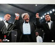 Muhammad Ali Mike Tyson Signed Autographed 16x20 Photo W/don King Oa 8281705