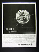 1959 Bell Telephone Transistor And Solar Battery In Vanguard Satellite Print Ad