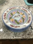 Zrike Meadow Bunny 6 Dinner Plates And 4 Salad Plates Easter Vhtf