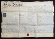 Warwick And Birmingham Canal 1878 Vellum Indenture For Land At Sparkbrook