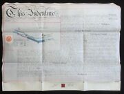 Warwick And Birmingham Canal 1885 Vellum Indenture For Land At Sparkbrook