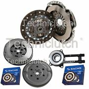 2 Part Clutch And Sachs Dmf With Sachs Csc For Ford Fiesta V Hatchback 1.4 Tdci