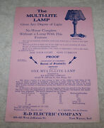 1923 R-d Electric Company Lamp Advertisement Fort Wayne Indiana