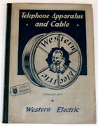 Western Electric Telephone Apparatus And Cable Catalog No 9 / First Edition 1935