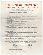 Rare 1966 Yaf Young Americans For Freedom Boston Program Political Conservative