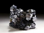 Super Quality Brilliant Shiny Silver Galena And Sphalerite Crystal Cluster