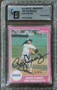 Roger Clemens Hand Signed Autographed 1987 Star Sealed Cello Pack Blue Back Gai