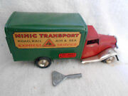 Triang Minic Transport Lorry Express Service Clockwork Windup Made In England