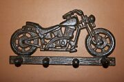 Old Fashion Vintage Motorcycle Memorabilia Cast Iron Wall Hook 8 Inches, H-03