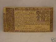 Fine 242 Yr Old Colonial Currency Note 4 April 10, 1774 - Maryland