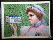 Rare Beautifully Framed Circa 1900 Vermicelle Brusson Jeune French Advertising