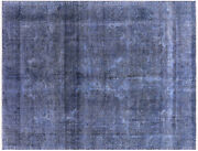 Overdyed Hand Knotted Wool Rug 9' 6 X 12' 6 - W955