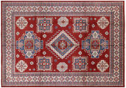 10and039 6 X 14and039 9 Kazak Hand Knotted Wool Area Rug - H6168