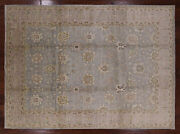 9and039 1 X 12and039 7 Hand Knotted Turkish Oushak Wool Area Rug - P3417