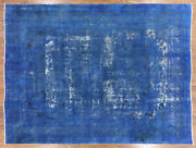 9' 6 X 12' 8 Overdyed Hand Knotted Wool Area Rug - P3932