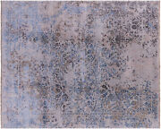 8and039 1 X 10and039 0 Contemporary Hand Knotted Wool And Silk Area Rug - P8214