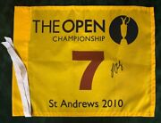 Rare Louis Oosthuizen Signed St Andrews 2010 Open Golf Flag Autograph Aftal Coa