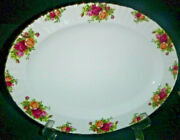 1962 Royal Albert Old Country Roses Bone China England 15 Oval Platter