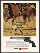 1969 Colt Single-action Army Saa Peacemaker Revolver Ad Indian Lance And Cavalry