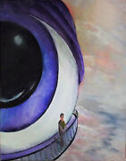 Eye To The Universe Original Acrylic On Canvas Artist Sign Painting 11x14 Ooak