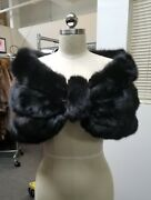 Black Russian Sable Fur Stole Wrap - Wear Alone Or Over Coat So On Point And Rare