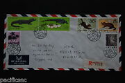 China Prc T68 Sable T85 Alligator Sets On Cover - Registered To Singapore A53