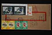 Prc T99 Peony Pavilion 8f X 2 20f X 2 On Cover - Registered To Singapore A68