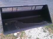 New 6and039.72 Skid Steer Loader High Capacity Window Snow Bucket Litter Mulch