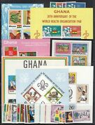 Ghana Scott 335a // 465 Mint Nh Sets And S/s Catalog Value Approx 60