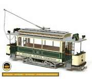 Wooden Modelkit Arkley Tram Berlin With Assembly Instructions Plus Base Included
