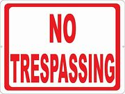 No Trespassing Sign. Size Options. Trespassers Trespass Keep Out Private