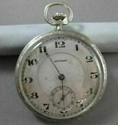 Antique 14kt White Gold Filigree Howard Pocket Watch From Late 1800and039s 17579