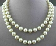 Estate Single Strand Aaa Natural South Sea Pearl Classic Necklace 8mm 21673