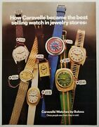 1972 Print Ad Caravelle Wrist Watch By Bulova Mens And Ladies Wrist Watches