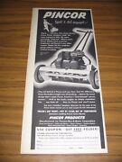 1951 Print Ad Pincor Reel Type Lawn Mowers Chicagoil