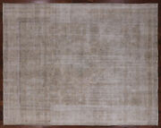 9and039 10 X 12and039 5 Traditional Vintage White Wash Handmade Area Rug - Q1970
