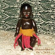 Rare Antique Germany Drp 14/1/2 African Celluloid Miniature 5.5'' Doll
