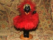 Rare Antique African Worrier Celluloid Miniature Heirloom Collectible Doll