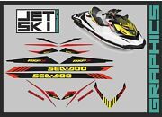Seadoo Rxp 300 White Graphics Kit Stickers Decals Set For Watercraft Part Vinyl