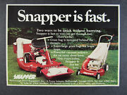 1974 Snapper Comet Riding And Push Lawn Mowers Photo Vintage Print Ad