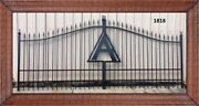On Sale Driveway Gate 14and039 Ft Inc Post Pkg Home Security Veterans Discount