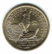 2013-d 1 Brilliant Uncirculated Business Strike Native American Dollar Coin
