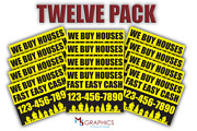 12 Pack I Buy Houses Cash Yard/lawn Signs Your Number Real Estate Marketing A001