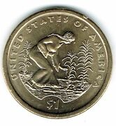 2009-d 1 Brilliant Uncirculated Business Strike Native American Dollar Coin