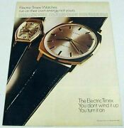 1967 Print Ad Timex Electric Wrist Watches Ladies And Mens Watch