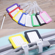 1/3/5pcs Plastic Luggage Tags Labels Strap Name Id Suitcase Bag Travel Accessory