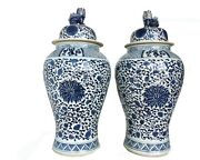 Mansion Size Chinoiserie B And W Porcelain Ginger Jars Dragon And Phoenix 36 H