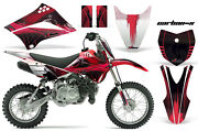Decal Graphics Kit Mx Wrap + Plates For Kawasaki Klx110l 2010-2018 Carbonx Red
